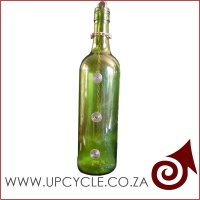 Smoking wine bottle incense burner