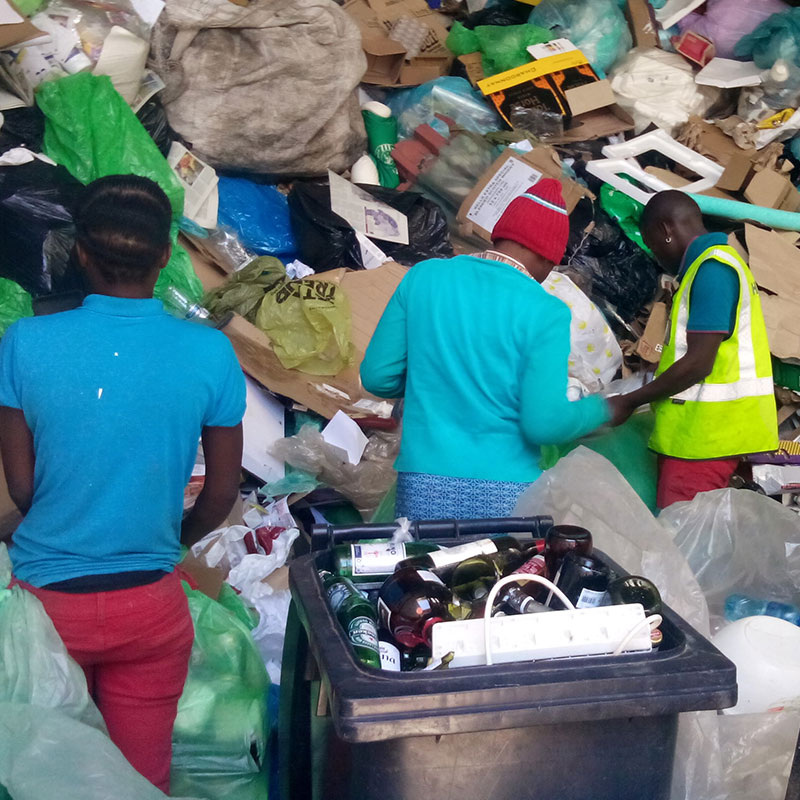 sorting recycling