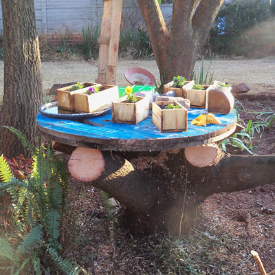 cable drum tree table