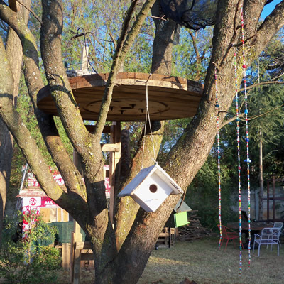 cable drum treehouse