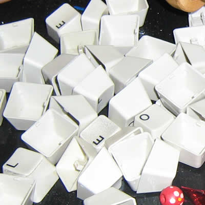 recycled keyboard keys