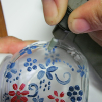 glassjar etching with dremel