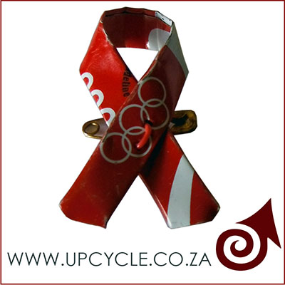 aids day ribbon tin