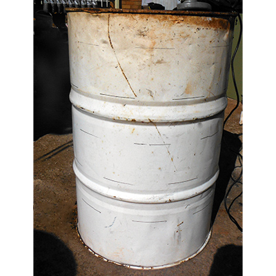 used metal drum