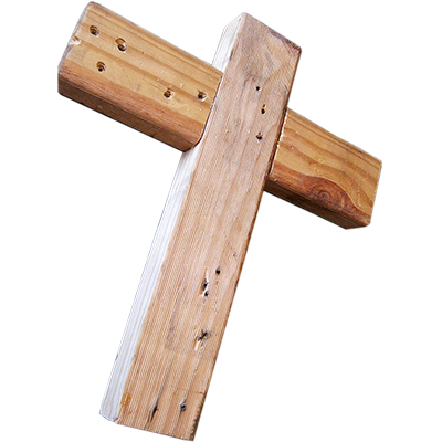 wooden cross complete plain