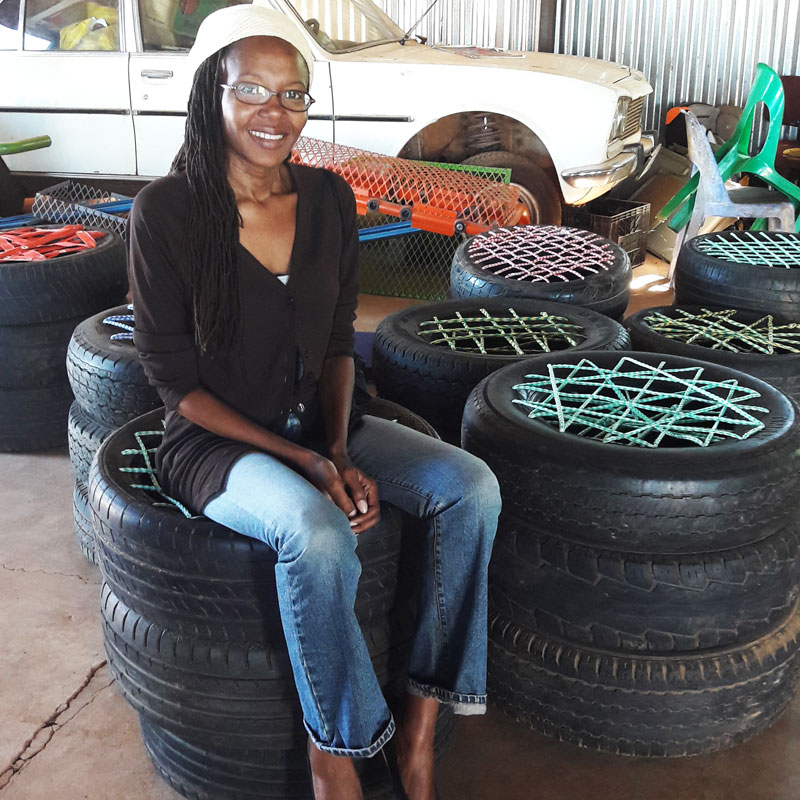 lots of tyre chairs made