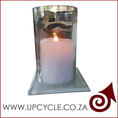 clear hurricane wine bottle candle holder 400