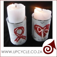 aids day candle  holder